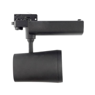 Spot LED 40W Noir pour Rail Triphasé FL-MGNM-CT-40-N Spot LED rail Triphasé