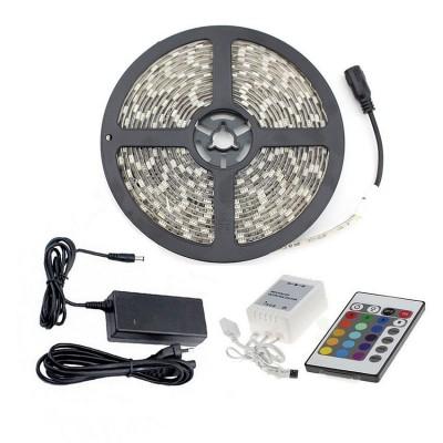 Ruban LED 5M 72W 60LED/m 5m RGB SJ-RGT-5050-60-RGB Bobine LED couleur