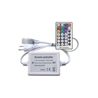 Contrôleur Rubans LED RGB 220V AC+télécommande RF 28 Touches CR-RGB-28B Accessoirs bobine LED