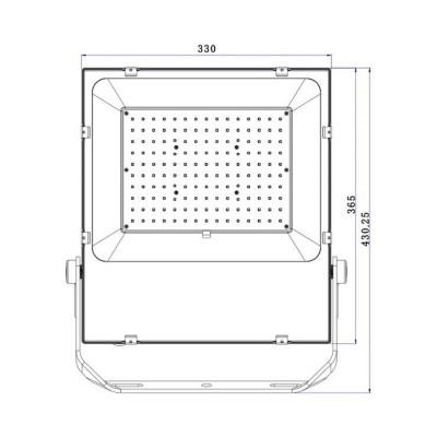 Projecteur LED 150W Slim PRO FC-PRYTR-150-SP Projecteur 100W et +