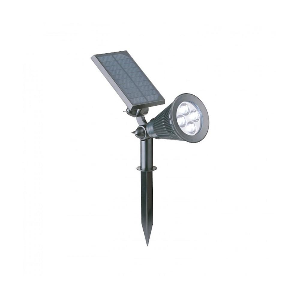 spot led solaire sur piquet avec d tecteur mouvement 0 100 eclai. Black Bedroom Furniture Sets. Home Design Ideas