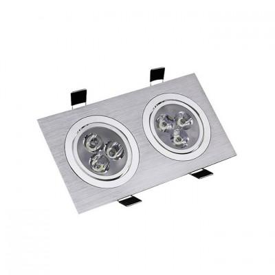 Spot LED Downlight Orientable Rectangulaire 2x3x1W . FLDR-231
