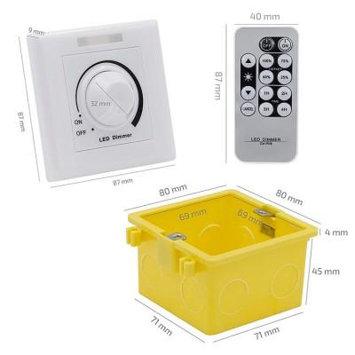 Variateur de puissance LED Triac 300W avec Télécommande IR. RL-300-IR Variateur Puissance LED