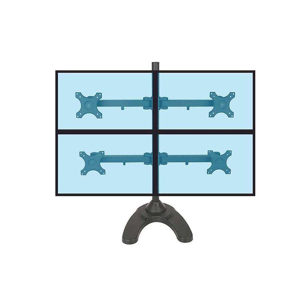 Support bureau pour 4 écrans 13´ 24´