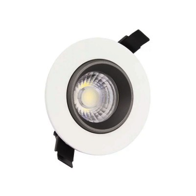 Spot LED Downlight COB Orientable 360º Rond 15W Design FC-DWNL-C15WB Spot LED Carré encastr