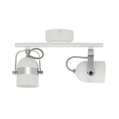Lampe de Plafond Orientable Sinner 2 Spots Blanc  .FO-S2XB-GU10 . lampe plafond orientable