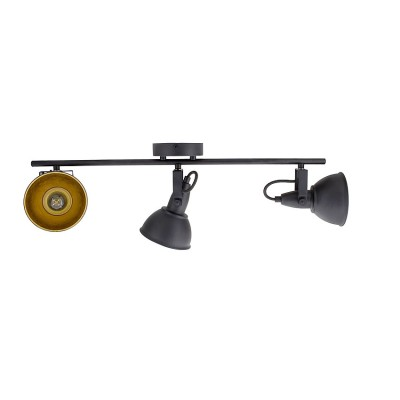 Lampe Plafond Orientable Emer 3 Spots Noir  . FO-E3XN-E14  .Eclairage plafond E14