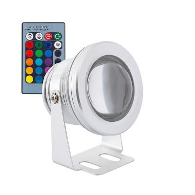 Spot LED Fixation au Sol RGB 12V 7W . SK-FLS-RGB-7W . spot externe RGB . projecteur led RGB externe