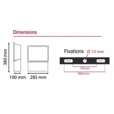 Projecteur Exterieur LED Gris 100W RGB .  Projecteur LED couleur 100W vision-el . vision el