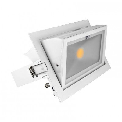 Spot Orientable LED COB Rectangulaire 30W .
