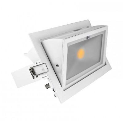 Spot Orientable LED COB Rectangulaire 30W . VI7692 . spot led orientable encastrable . spot led 30W . vision-el