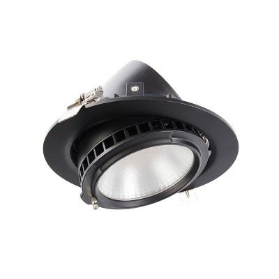 Projecteur LED Rond Orientable Samsung 38W Noir FLDDC-38-N Spot LED orientable