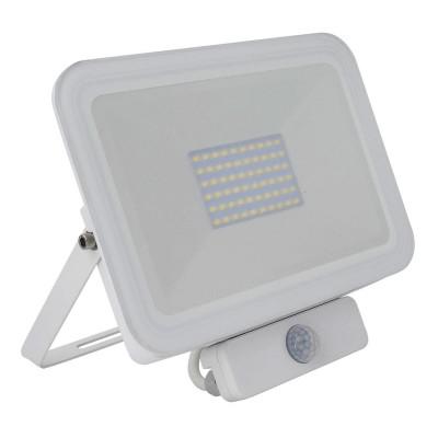 Projecteur LED Extra-Plat avec Détecteur de Présence PIR 50W, detecteur de mouvement,FPL-SLM-PIR-50