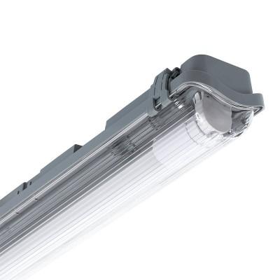 Réglette Étanche pour un tube LED 1500mm PC/PC Connexion Latérale,PEP1TL-SLM-1500,reglette led 1500,reglette pas cheres,