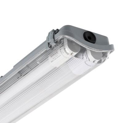 Réglette Étanche pour 2 tubes LED 1500mm PC/PC Connexion Latérale,PEP2TL-SLM-1500,reglette led 1500,reglette pas cheres,