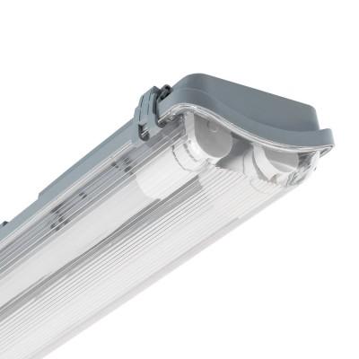 Réglette Étanche pour 2 tubes LED 1200mm PC/PC Connexion Latérale,PEP2TL-SLM-1200,reglette led 1200,reglette pas cheres,