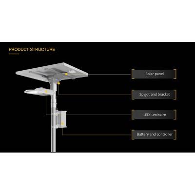 lampadaire de rue  solaire,ST22,LED Solar Street,Éclairage urbain,led solaire rue,Lampadaire solaire public autonome