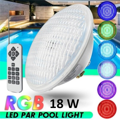 Ampoule LED Submersible PAR56 RGB 18W PC,BMBLL-LD-SMRGBL-PRRGB-18WPC,eclairage piscine,jardin,décoration piscine,