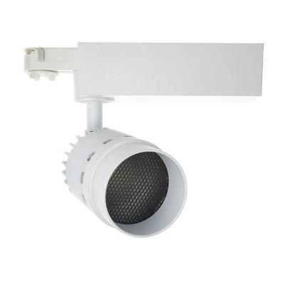 Spot LED Cree Cannon 20W Blanc pour Rail Triphasé (UGR 19) ,KM-FLCCT-20 ,Spot LED cannon rail Triphasé