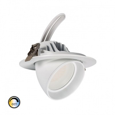 Projecteur LED SAMSUNG 125lm/W Orientable Rond 38W CCT Sélectionnable LIFUD Dimmable,FC-PRY-SNG-C-SL-38-RG-CCT
