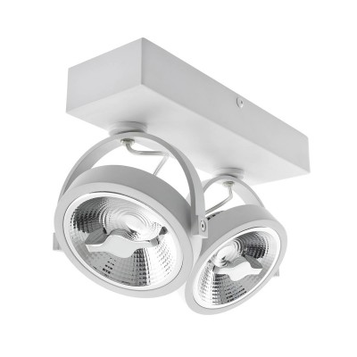 Spot LED Cree en Saillie Orientable AR111 30W Dimmable Blanc, FLC-AR111-2X15-DIR-B, spot led double,luminaire plafond,