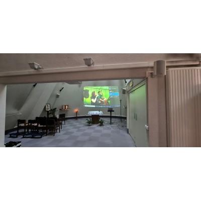 Installation audiovisuelle église, ehpad, chapelle, lieu de culte, paris, région parisienne,