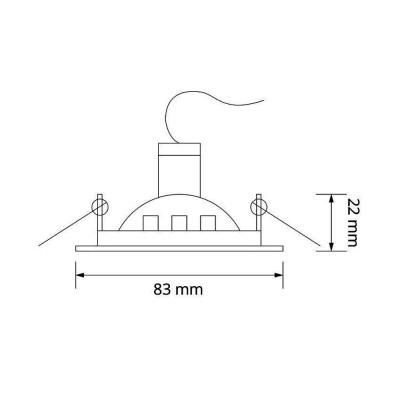 Support Spot Carré Orientable 83mm AR-DBSCLN-CU-83 Accessoire Spot LED / Rail