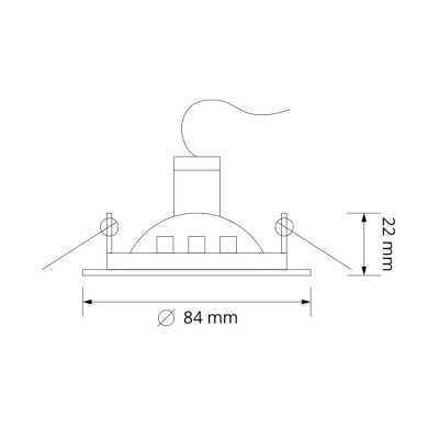 Support Spot Rond Orientable 84mm AR-DWBSCL-84