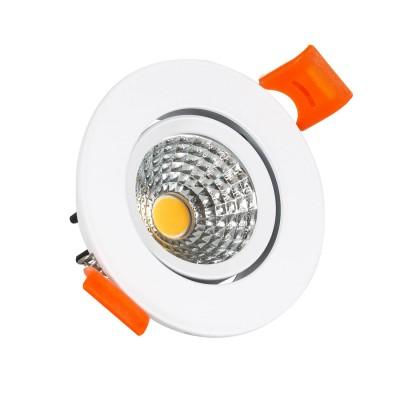 Spot Downlight LED COB Orientable Rond 5W (UGR19) Blanc Coupe Ø 70mm CRI92 Expert Color, FC-DWNL-C5