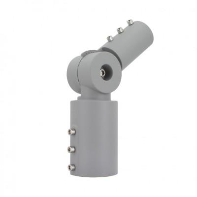 Bras sur Colonne Orientable 90º Ø40mm pour Luminaires Éclairage Public Gris, BCKT-LMRAP-NS