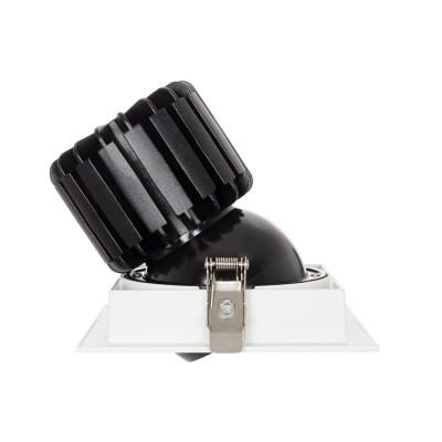 Spot Downlight LED COB Carré Orientable 360º CRI90 18W Coupe 125x125mm Expert Color