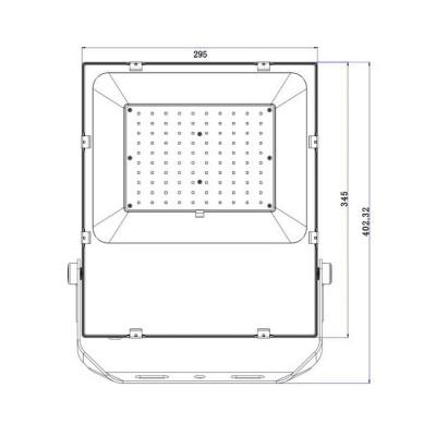 Projecteur LED 100W Slim PRO . FC-PRYTR-100-SP Projecteur 100W et +. ledkia . miidex