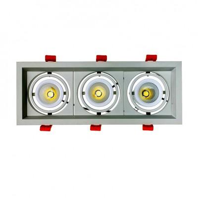 Spot LED Cree-COB Madison Orientable 3x10W LIFUD . spot led orientable encastrable . FMLD-CC-3X10  . Spot led plafond