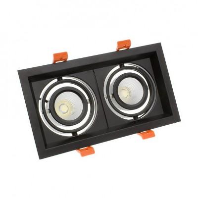 Spot LED Madison Orientable CREE-COB 2x10W Noir FMLD-CC-2X10-B Spot LED orientable